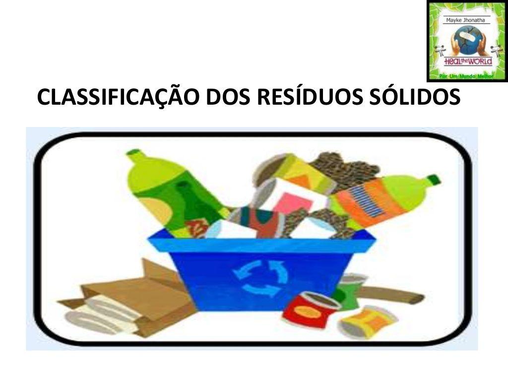 CLASSIFICAÇÃO DOS RESÍDUOS SÓLIDOS by Mayke Jhonatha via slideshare