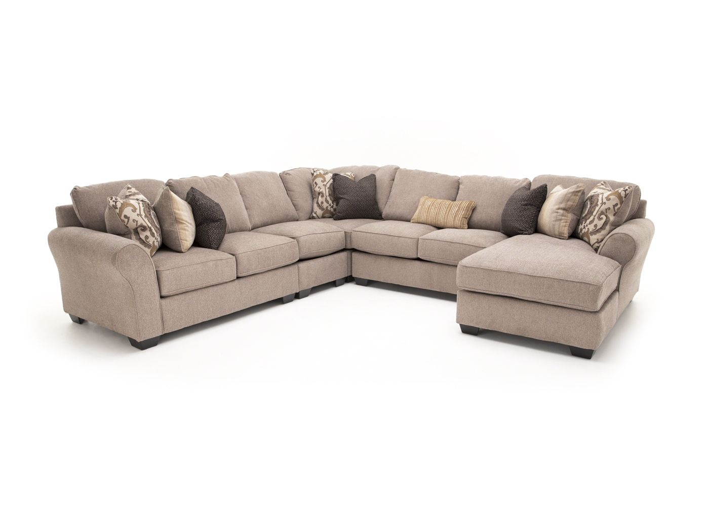 Maria 5 Pc Sectional Sectional Living Room Sectional Cheap Furniture Near Me