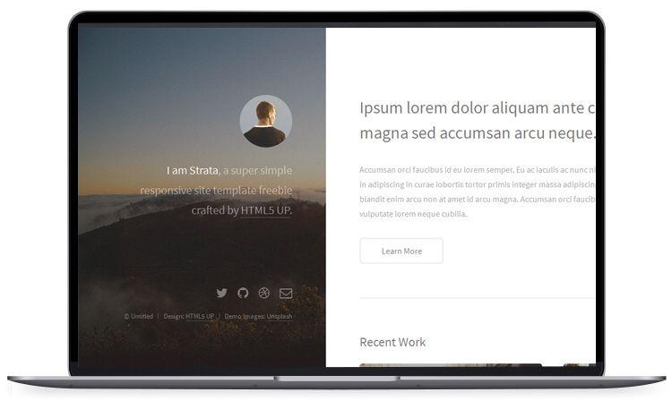 Strata - Portfolio Website Template | 100+ Free HTML5 Website ...