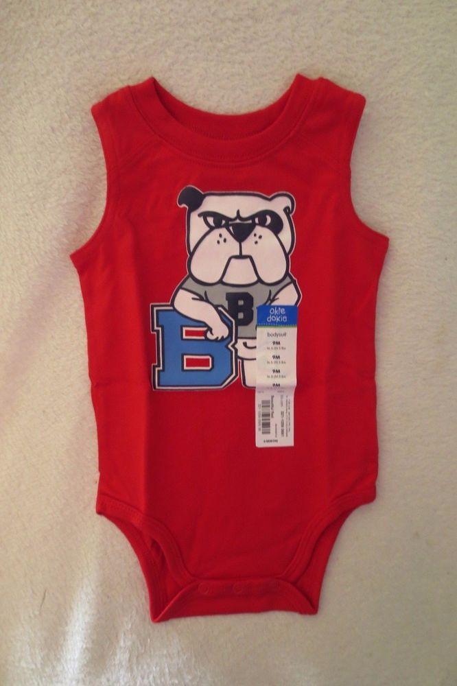 9020abe8d Okie Dokie Baby Boy Bodysuit Size 9 Months Red New  OkieDokie ...