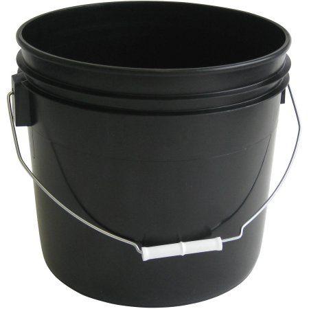 Argee 3 5 Gallon Black Bucket 10 Pack Walmart Com Black Bucket Plastic Buckets Plastic Pail