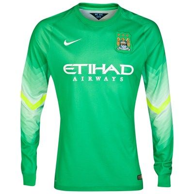 lower price with 67c9c 76460 Manchester City 2014/2015 Goalkeeper Shirt (Green ...
