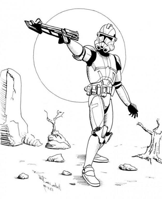 Star Wars Coloring Pages Stormtrooper Avec Images Dessin