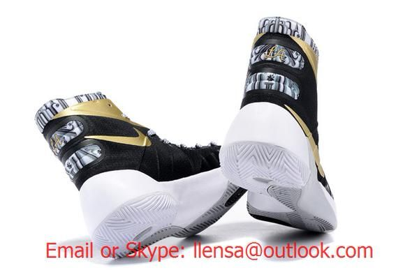 Nike Hyperdunk 2015 Black Gold White Basketball Shoes  93ac6e740b75