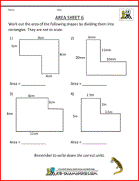 Area Worksheets Area Worksheets Area And Perimeter Math Worksheets