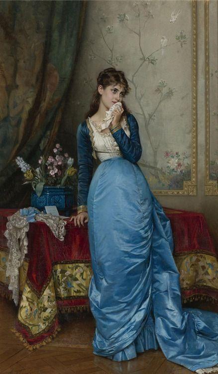 The letter - Auguste  Toulmouche (french, 1829-1890) - 1878 https://www.mixturecloud.com/media/Hd0Jlagu