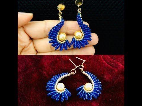 Spiral Herringbone Earrings Diy Beaded Earrings Youtube