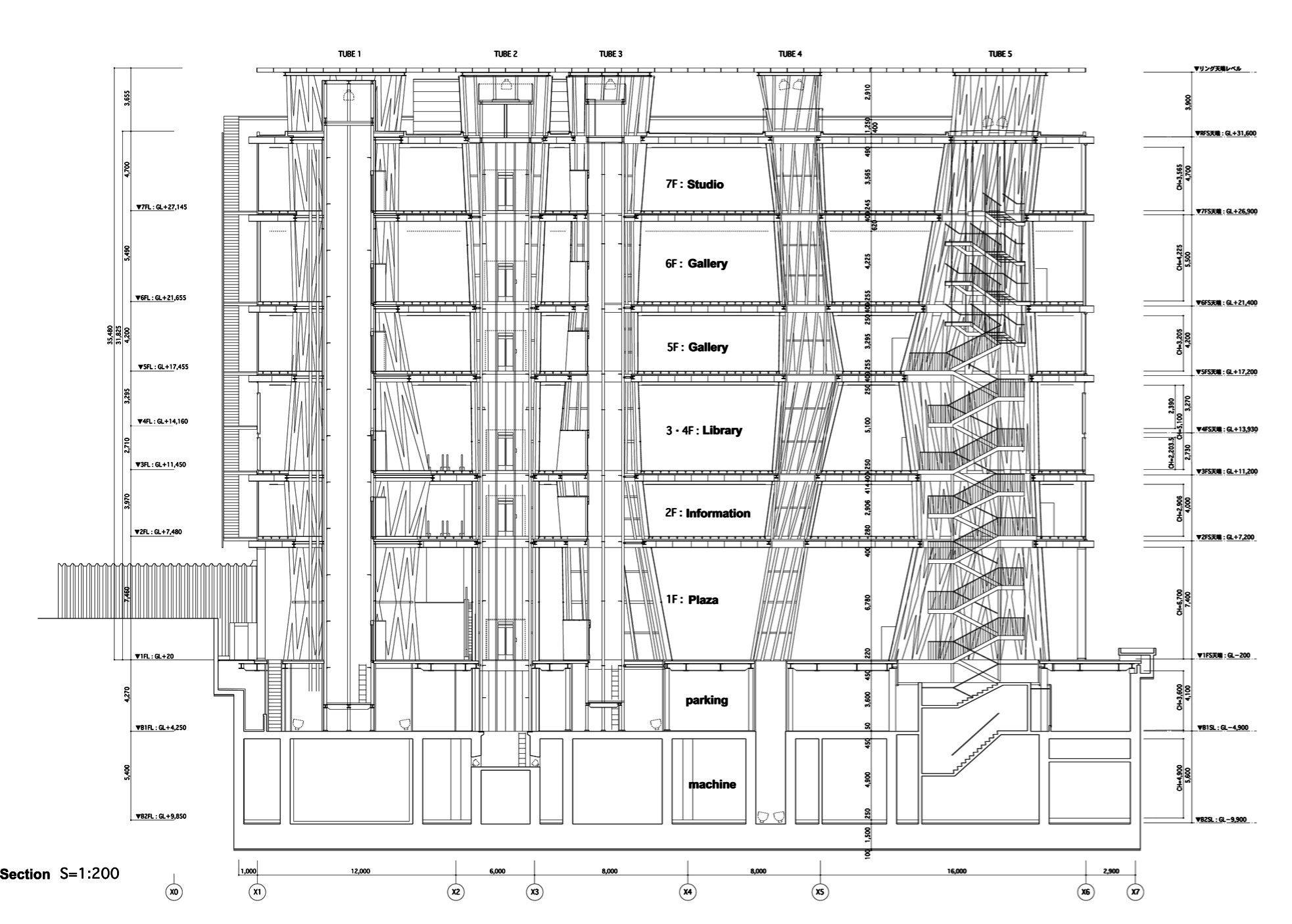 Diagram Sendai Mediatheque Japan