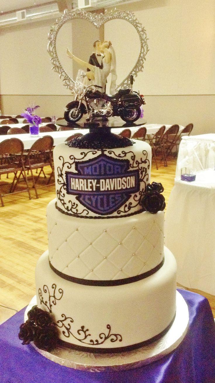 Harley Davidson Wedding Theme Wedding Cake Chic Motorcycle Wedding Wooden Cake Topper Wedding
