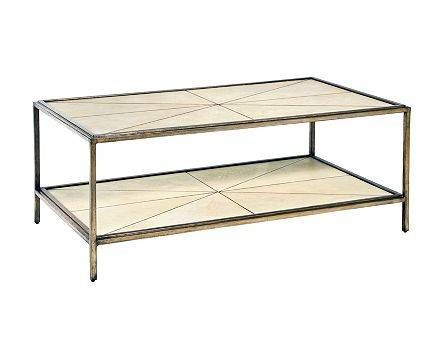 Faux Ivory Shagreen Coffee Table | Mecox Gardens