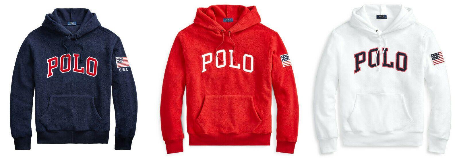Polo Ralph Lauren American Usa Flag Fleece Sweatshirt Hoodie New 148 Https Uxshops Com P 55828 Sweatshirts Hoodie Sweatshirts Sweatshirt Fleece [ 552 x 1599 Pixel ]