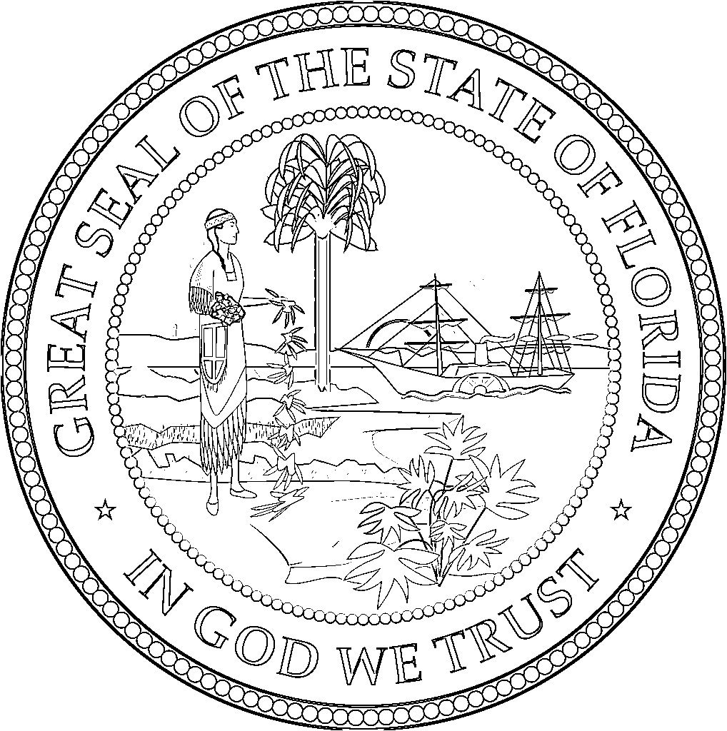 Indiana State Seal Coloring Page
