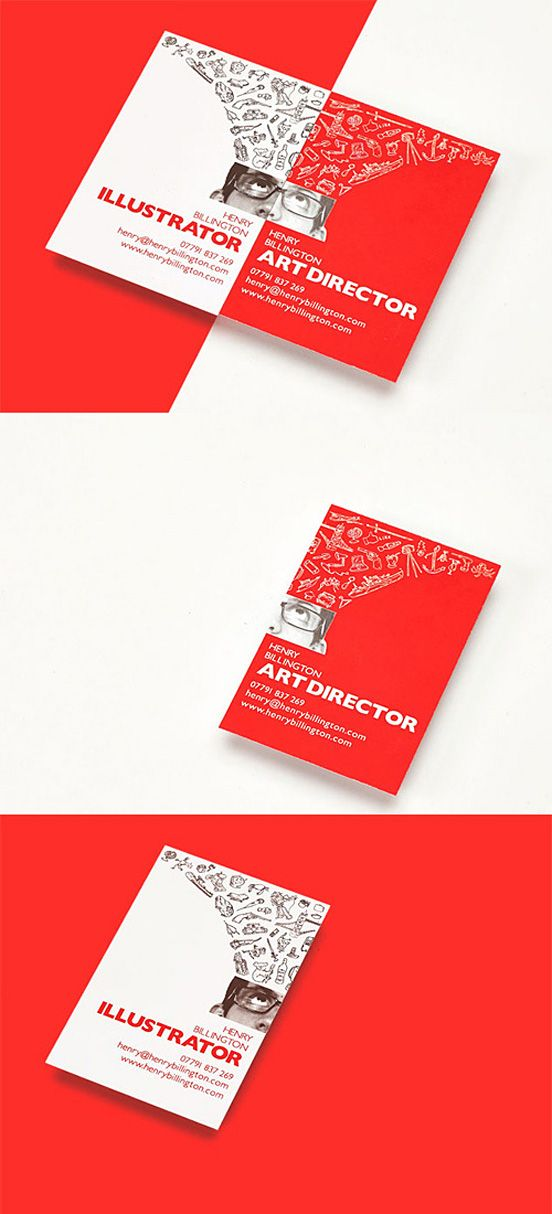 Art Director Business Card I really like the visual effect of the ...