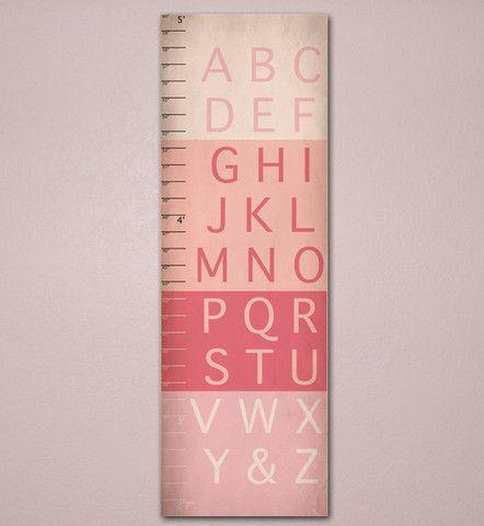 Alphabet Growth Chart, ABC, Unique Childrenu0027s Art 10 X 30, Kids - abc chart