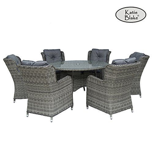 6 Seater Garden Furniture Katie blake seville 6 seat garden furniture set with high back katie blake seville 6 seat garden furniture set with high back armchairs and circular dining table workwithnaturefo
