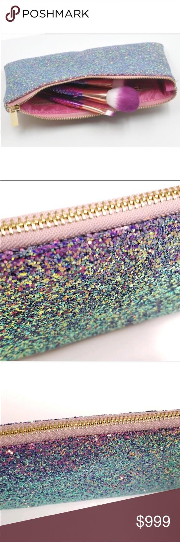 Coming SOON Glitter Makeup Bag Iridescent Coming soon