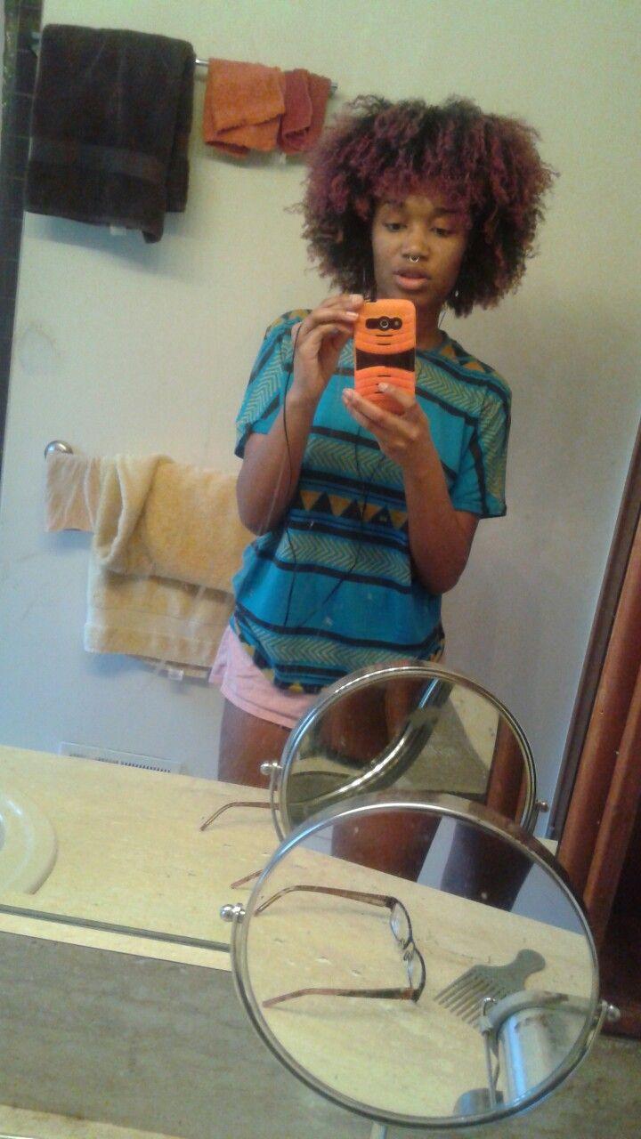 My wash n go!! .... but I steady wearing wigs lol!!!