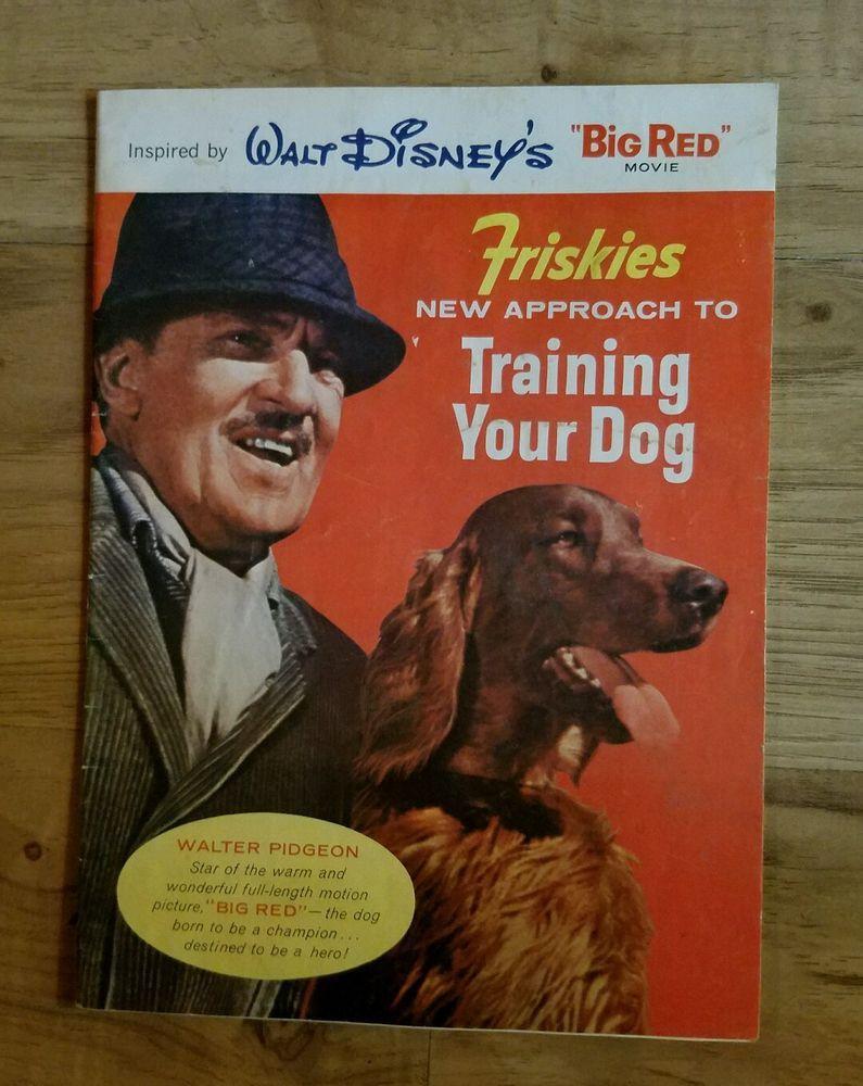 Walt Disney Productions 1962 Pamphlet Big Red Dog Training