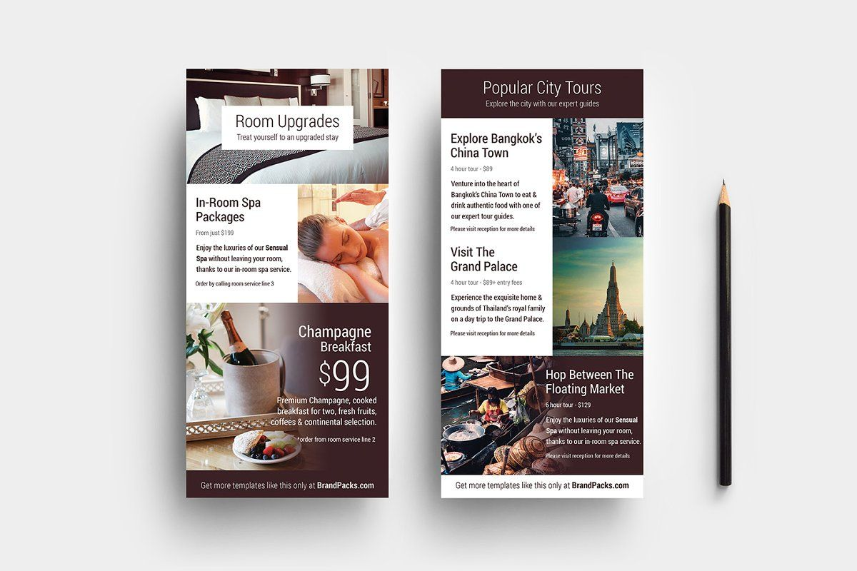 Hotel Templates Card Template Free Business Card Templates Rack Card Templates