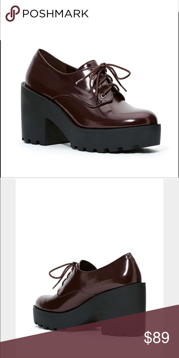 Shoe cult by nasty gal  vampy Oxford inbox blood Nwt!- tags aren't on it but still have care sticker and no signs of wear! Minor scuffs on one shoe that are unnoticeable in most lighting but can be easily buffed out! Nasty Gal Shoes Ankle Boots & Booties