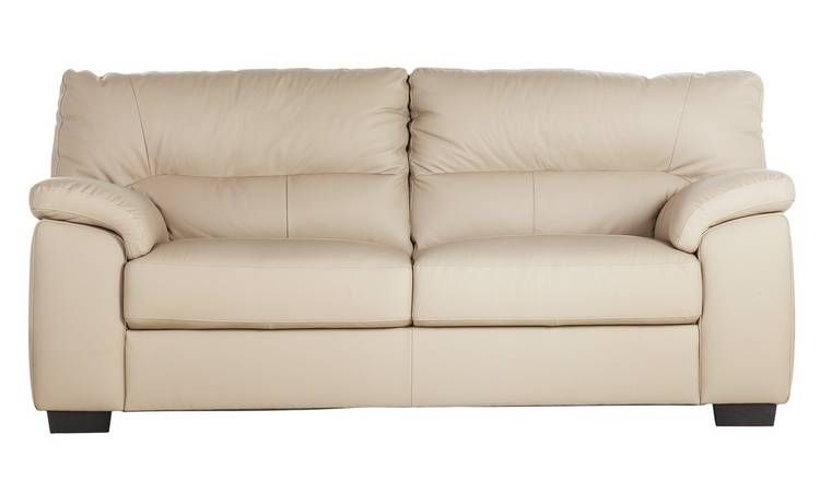 Swell Buy Argos Home Piacenza 3 Seater Leather Sofa Taupe Pdpeps Interior Chair Design Pdpepsorg