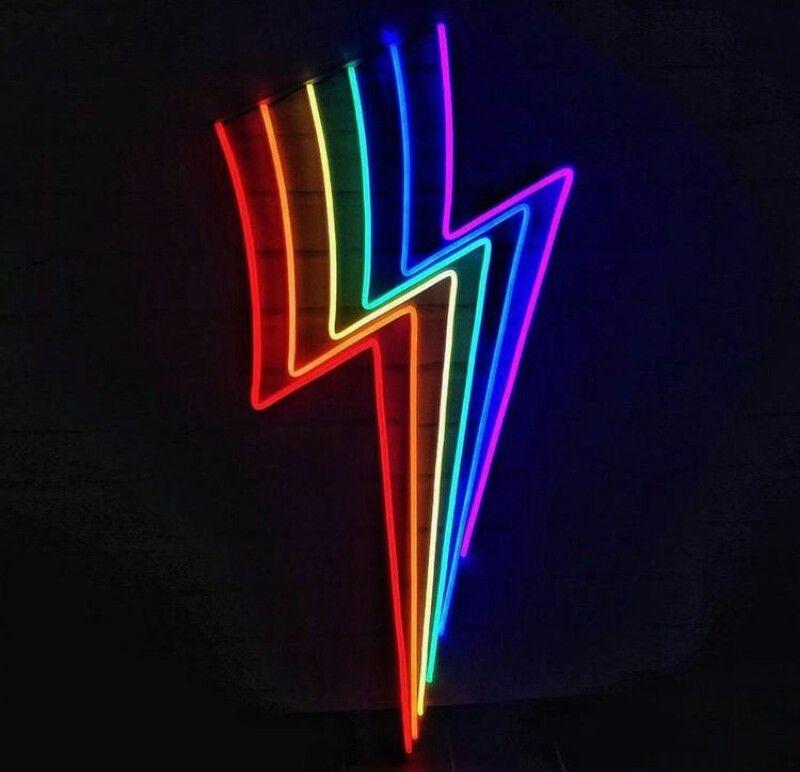 Pin By Ashley On Neon Lights Neon Light Art Neon Art Neon Wallpaper Black wallpaper tumblr neon rainbow