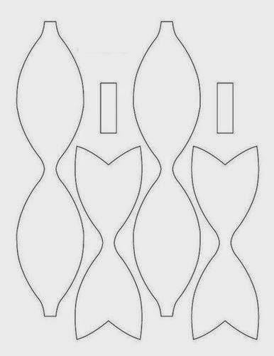 plantillas lazo de papel - Buscar con Google Cosas para crear - bow template
