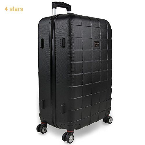 81d2cb5b0 Hardshell Luggage Suitcase Lightweight Travel Baggage 3 Pieces 4 Wheeled  Spinner Roller Black Silver Blue M L XL Trolley
