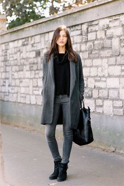 a61c413a06 16 Cool Outfits With Grey Skinny Jeans For This Fall Styleoholic ...