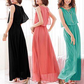 Juniors' Chiffon Maxi-Dress - Assorted Colors | nomorerack.com