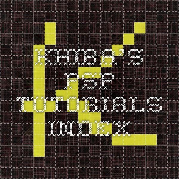 Khiba's PSP Tutorials - index