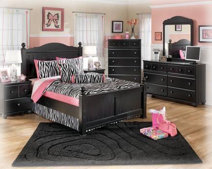 Jaidyn Youth Black Wood Kids Bedroom Set Kids Bedroom Sets