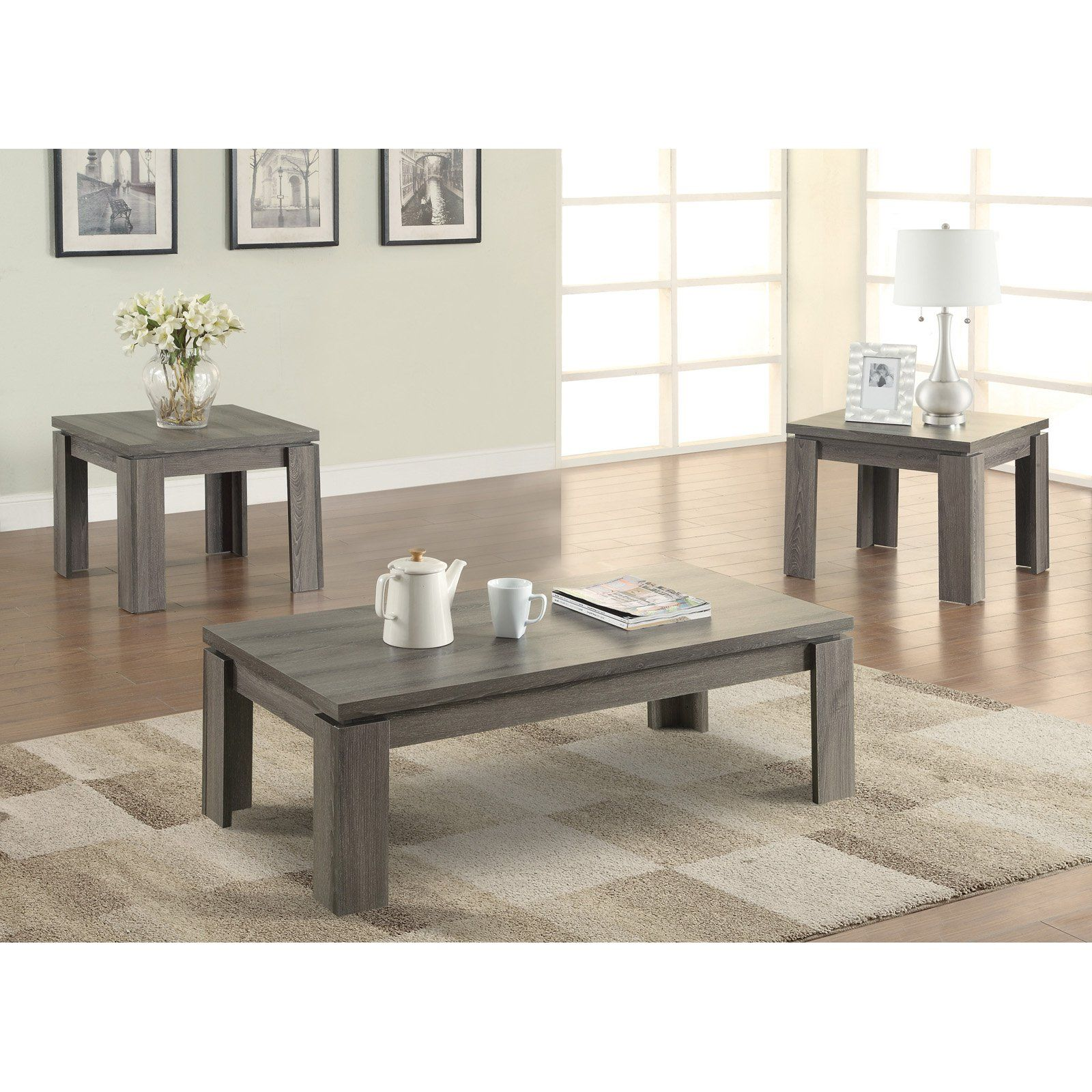 Coaster Furniture 3 Piece Modern Coffee Table Set Modern Coffee