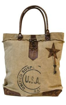Vintage Usa Canvas Handbag Craft House Designs Americana Bags