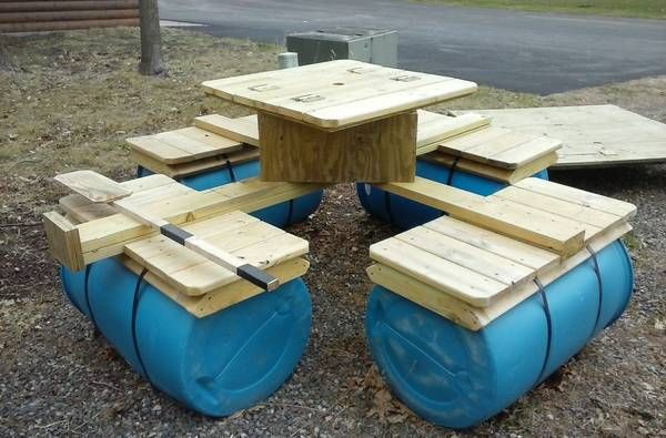 8 Person Floating Raft Floating Picnic Table Has A Cooler