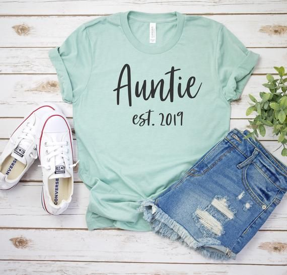 Aunt To Be Auntie Est 2019 Gifts For Aunts Aunt Gifts | Etsy