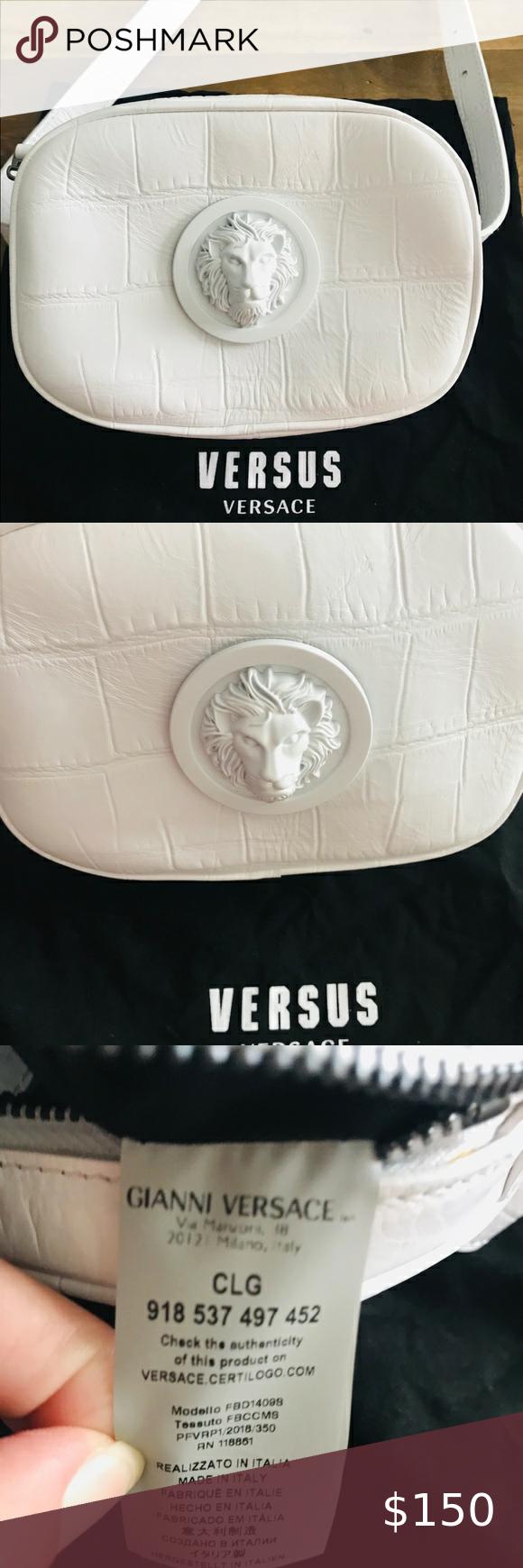Versus Croc Embossed Belt Bag Belt Bag Versace Bag Mini Bag