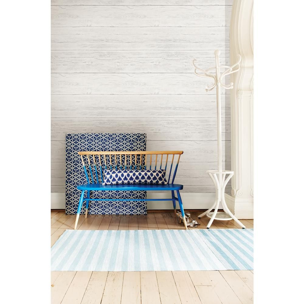 Nuwallpaper Shiplap Peel And Stick Vinyl Strippable Wallpaper Covers 30 75 Sq Ft Nu2187 The Home Depot Home Decor Wood Wall Design Nuwallpaper