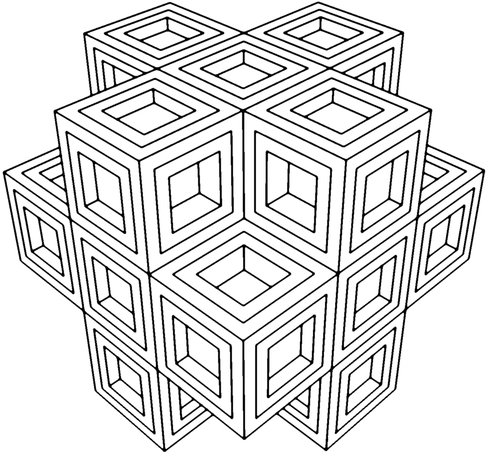 - Geometry Coloring Pages-Coloring For Grown Ups Geometric