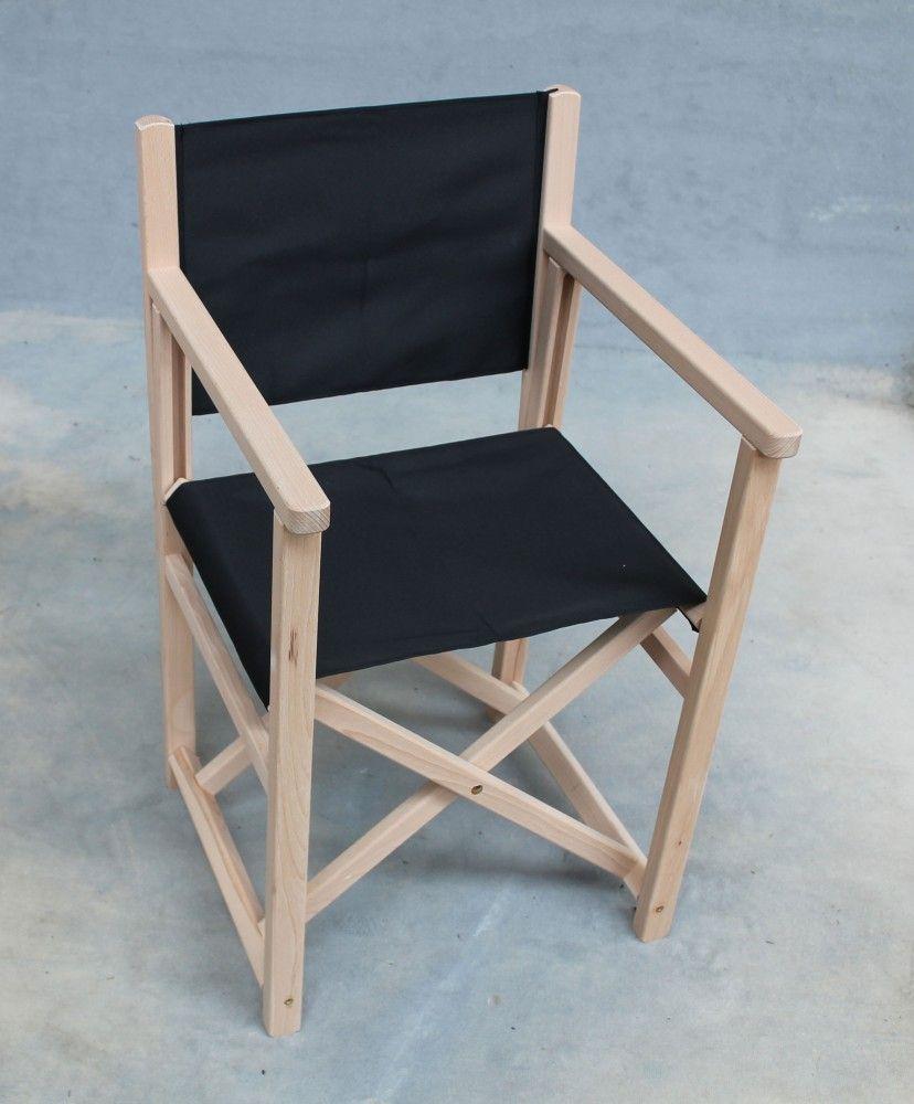 robur regiestuhl schwarz holz natur klappstuhl faltstuhl. Black Bedroom Furniture Sets. Home Design Ideas
