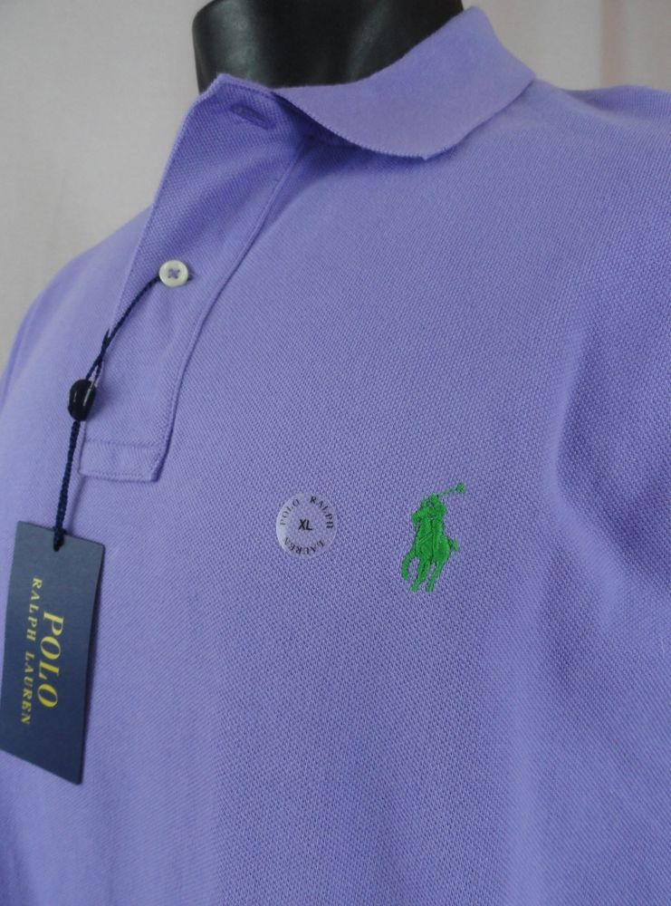 1250daddd NWT Polo Ralph Lauren Mens XL Polo Shirt Light Purple SS Classic Fit Cotton  New #PoloRalphLauren #PoloRugby