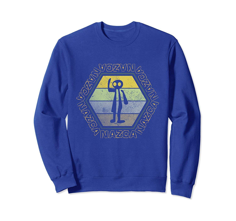 Nazca Lines Spaceman Astronaut Retro Pop Art Alien UFO Peru Sweatshirt #retropop