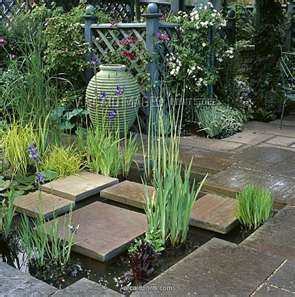 beautiful courtyard styling and water feature