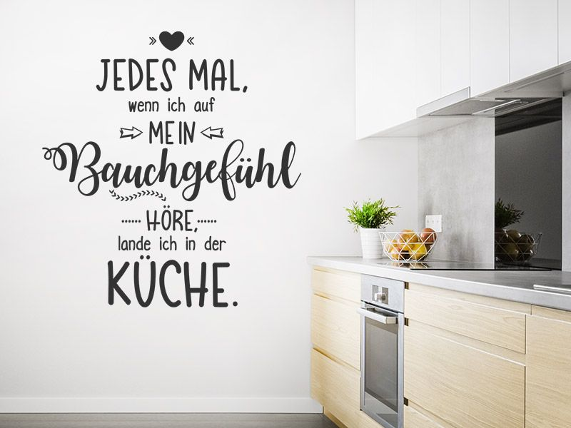 Wandtattoo Bauchgefuhl Spruch Wandtattoos De Wandtattoo Spruche Spruch Kuche Wandtattoo Kuche