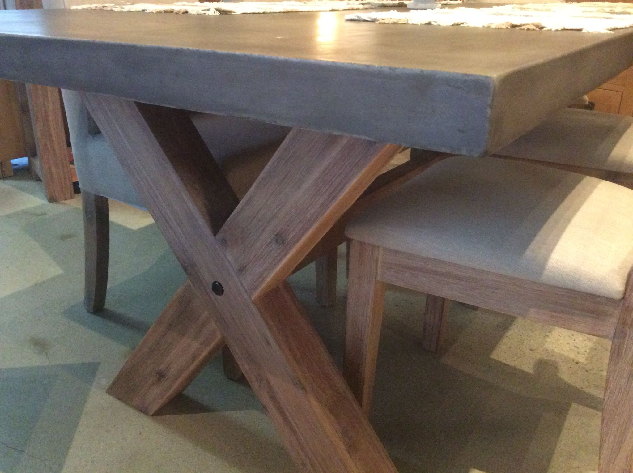 Concrete Top Dining Tables Rockhamptons Thick Concrete Table Table Rockhampton Concrete