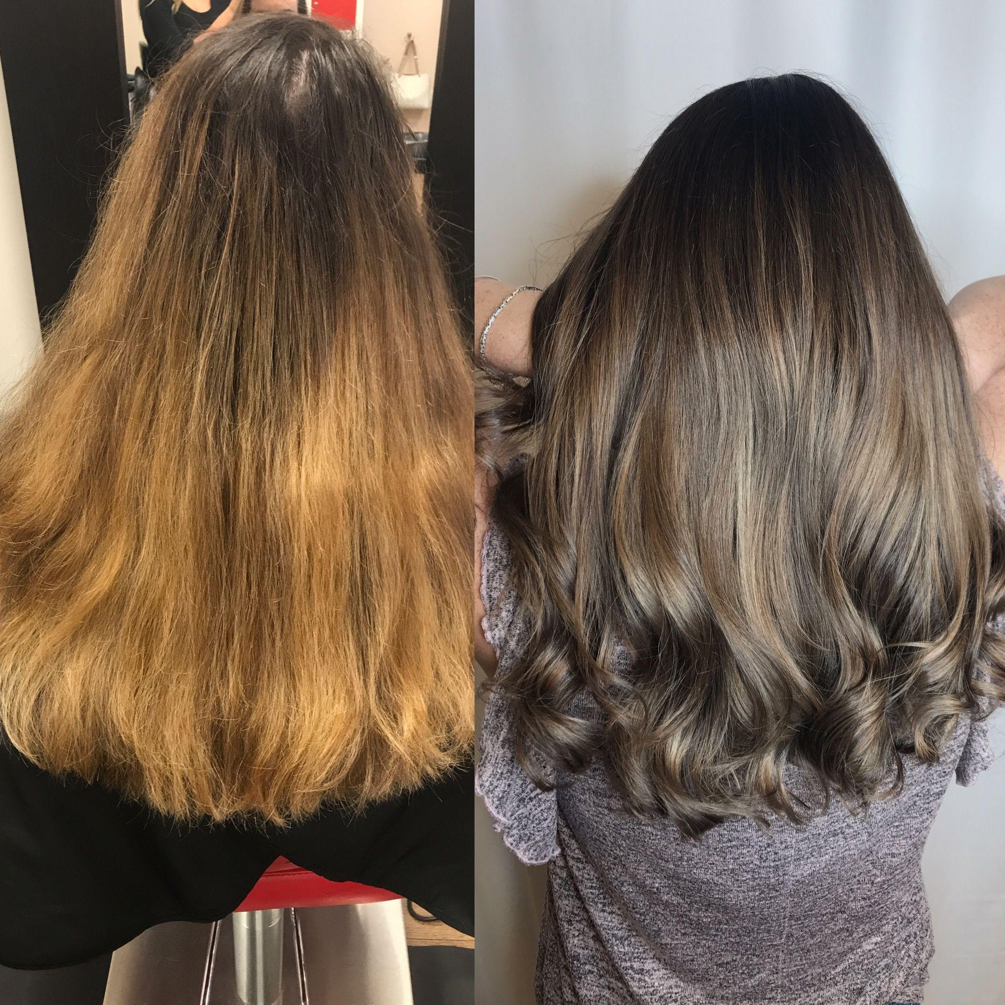 Balayage Ash Brown Ashy Balayage Before And After Hair Vogue Hair Salon Hair Ash Brown Hair Hair Styles
