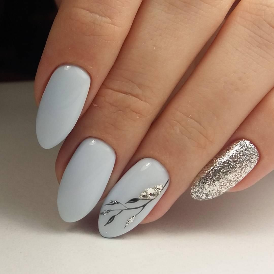 Perfect grey nail color with w hint of glitter | Nails | Pinterest ...