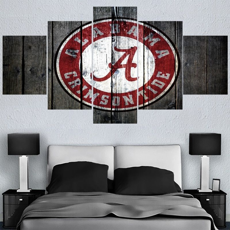 University Rugby Team Alabama Paintings Modern Home Decor Living Room Bedroom Wall Art Canvas Print Painting Calligraphy In 2020 Bedroom Wall Art Canvas Bedroom Wall Art Wall Canvas
