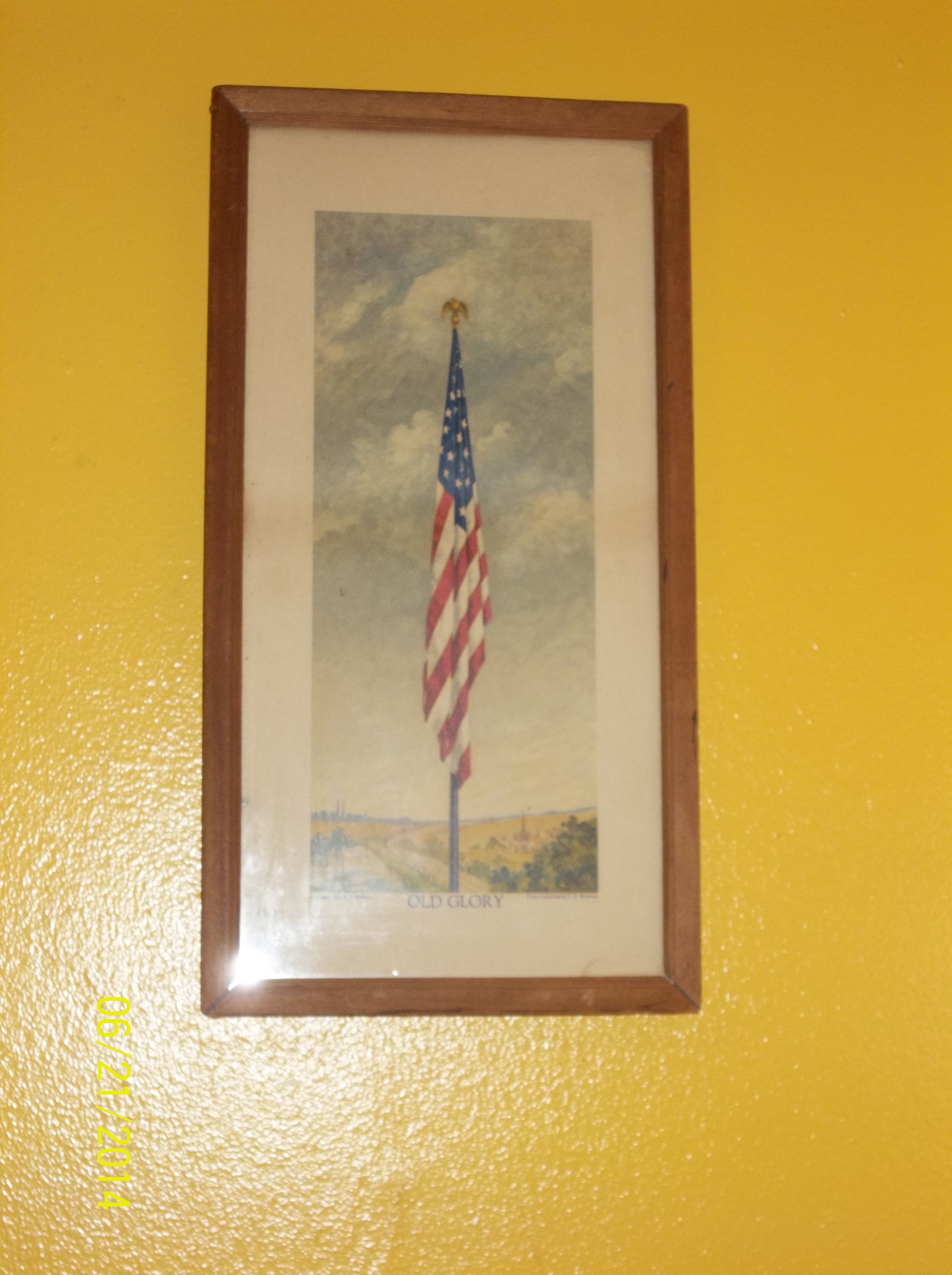 A vintage picture of OLD GLORY