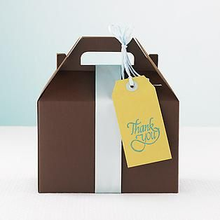 The Container Store > Large Chocolate Gable Box
